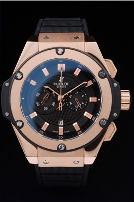 Relógio Réplica Hublot King Power Dourado