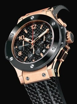 Relógio Réplica Hublot Big Band Red Gold Black Ceramic