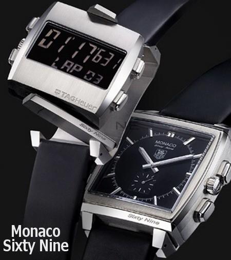 Relógio Réplica Tag Heuer Monaco 69 Analógico e Digital