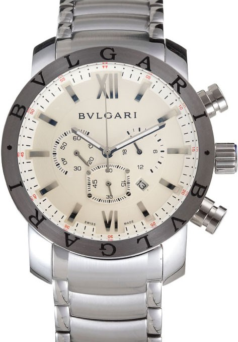 Relogio Bulgari Chronometro White