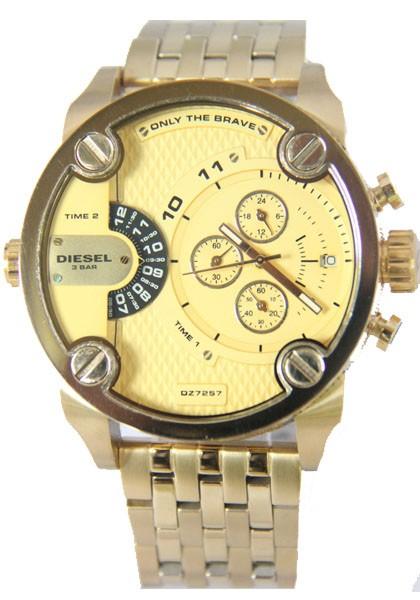 Relógio Réplica Diesel Dz7257 Dourado