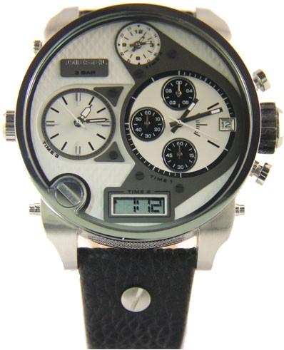 Relógio Réplica Diesel DZ7125 Branco e Prata