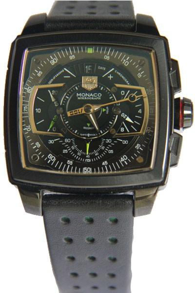 Relógio Réplica Tag Heuer Monaco Mikrograph Preto com Verde