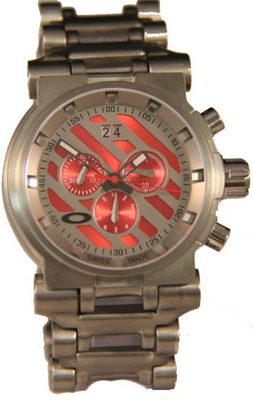 Réplica Relógio Oakley Hollow Point Titanium Red