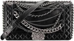 Réplica de Bolsa Gucci Soho Disco Le Boy M com correntes - Preta