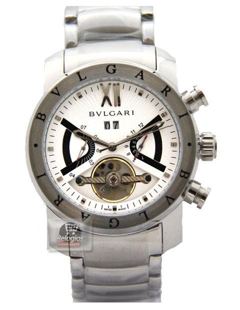 Relógio Réplica Bulgari Homem de Ferro Branco