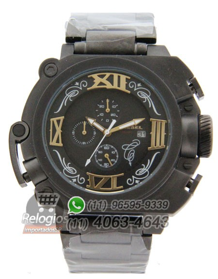 Relógio Réplica Diesel Batman All Black Aço ( PROMOÇÃO )