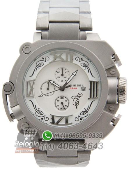Relógio Réplica Diesel Batman Prata branco Aço ( PROMOÇÃO )