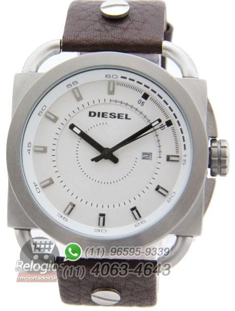 Relógio Réplica Diesel The Only Brave Branco Marrom Limited ( PROMOÇÃO )