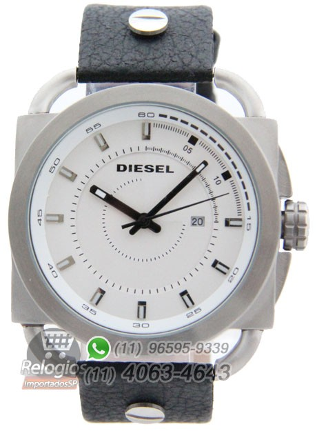 Relógio Réplica Diesel The Only Brave Prata Branco ( PROMOÇÃO )