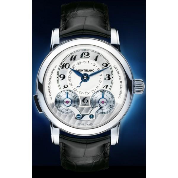 Relógio Réplica Montblanc Star Nicolas Rieussec Platinum