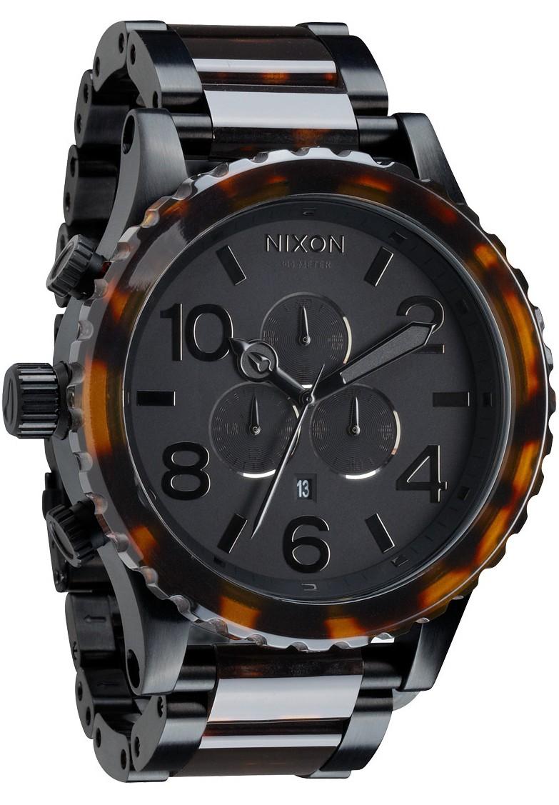 Relógio Réplica Nixon 51-30 Chrono Matte Black Tortoise