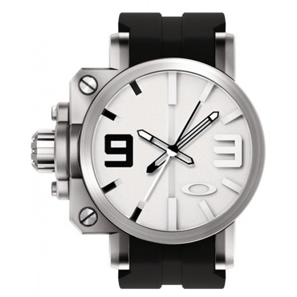 Relógio Réplica Oakley Gearbox Silver White