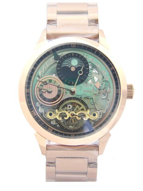 Relógio Réplica Patek Philippe Geneve Esqueleto Rosê
