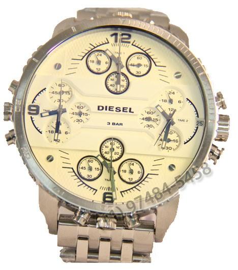 Relógio Réplica Diesel 4 maquinas White
