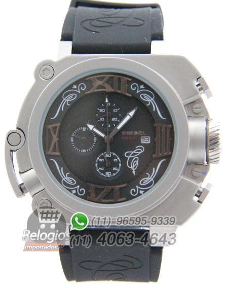 Relógio Réplica Diesel Batman Prata Preto ( PROMOÇÃO )