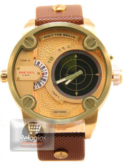 Relógio Réplica Diesel Dz7222 Radar Dourado Preto