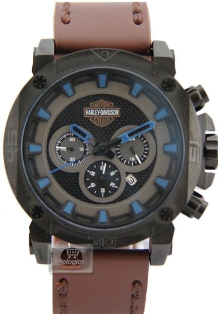 Relógio Harley Davidson Preto Azul ( 1513 )