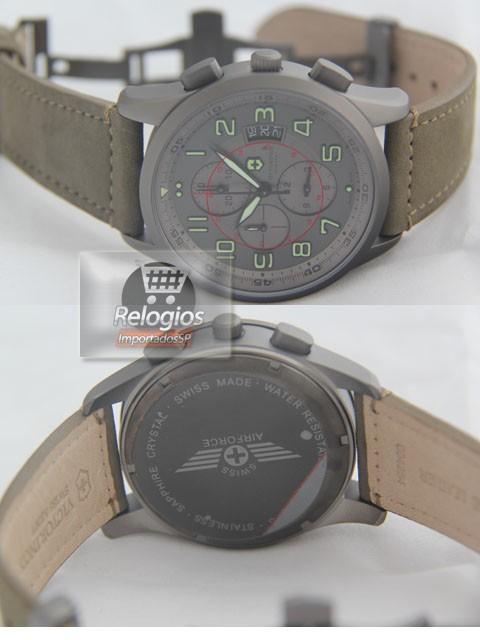 Relógio Réplica  Victor Inox Titanium Cinza