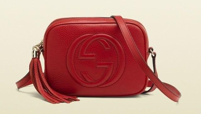 Réplica de Bolsa Gucci Soho Disco Vermelha