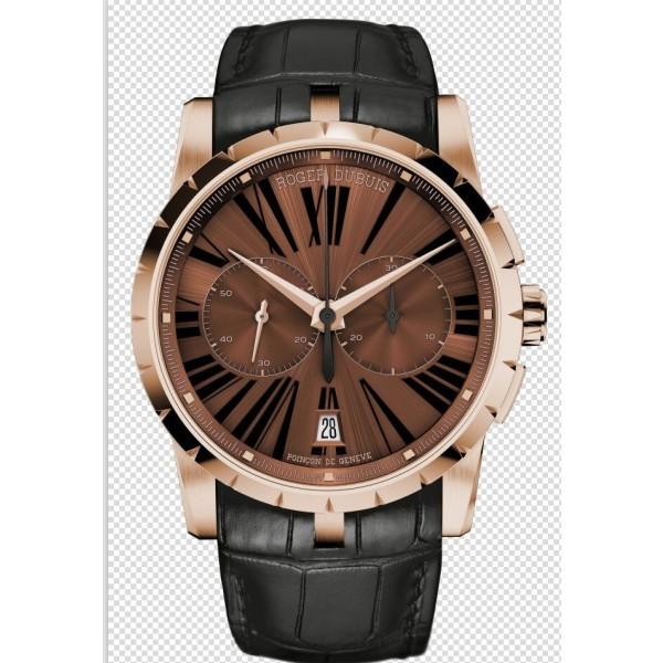 Relógio Réplica Roger Dubuis Excalibur Chronograph Marrom
