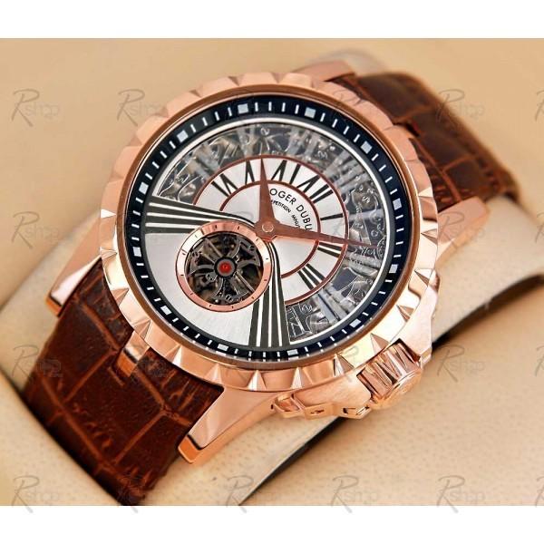 Relógio Réplica Roger Dubuis Excalibur Minute Gold White