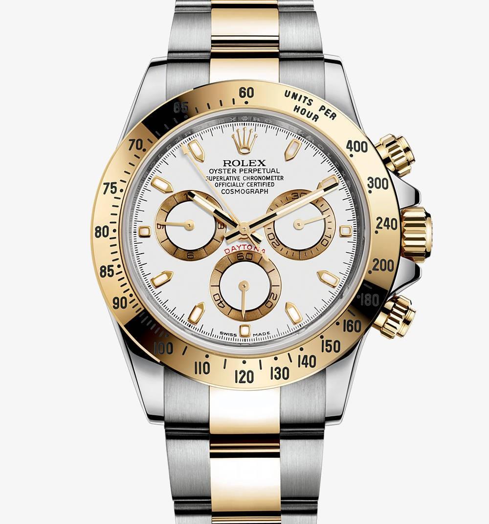 Relógio Réplica Rolex Daytona Gold White