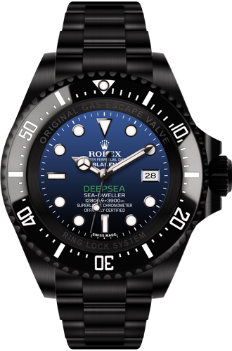 Relógio Réplica Rolex Deepsea D-Blue Black