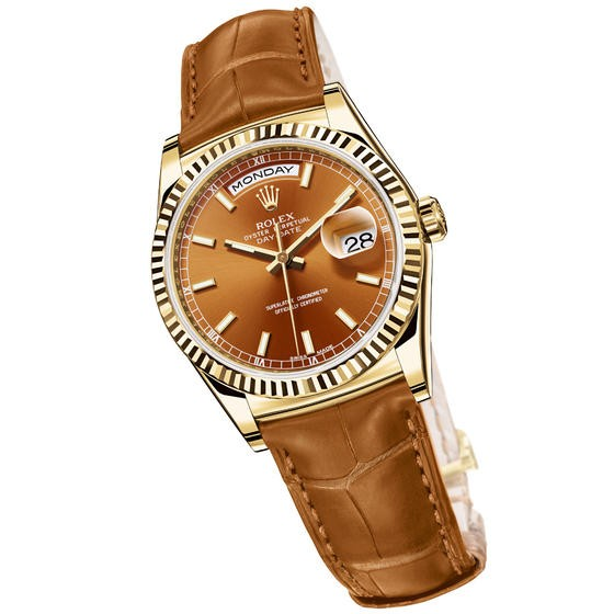 Relógio Réplica Rolex Oyster Perpetual Day Date Yellow Gold Square