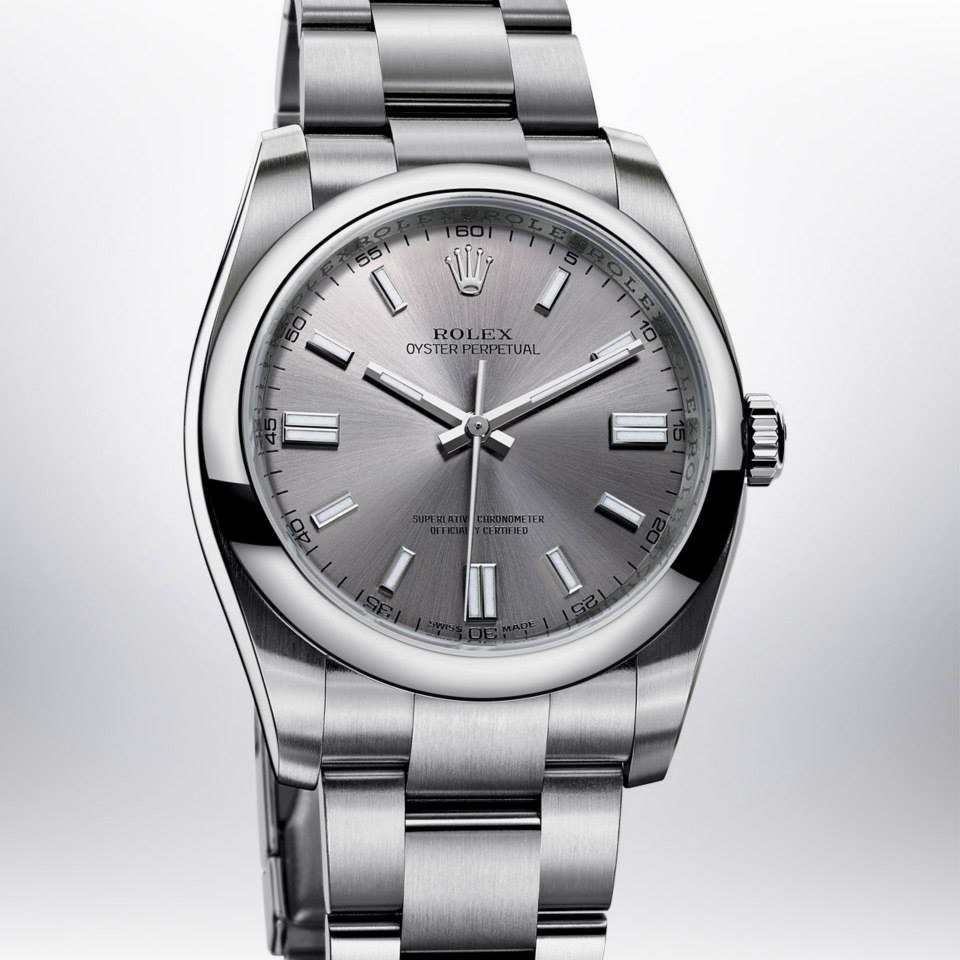 Relógio Réplica Rolex Oyster Perpetual Gray