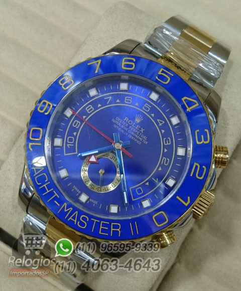 Relógio Réplica Rolex Oyster Yacht Master II Misto Azul ( LANÇAMENTO 2015 )