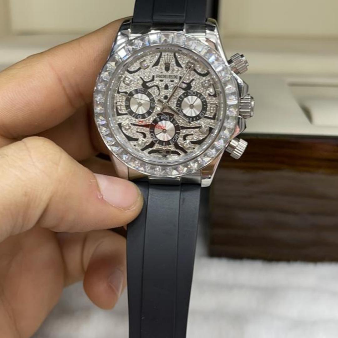 Relógio Réplica Rolex Borracha