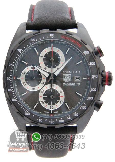 Relógio Réplica Tag Heuer Calibre 16 Black