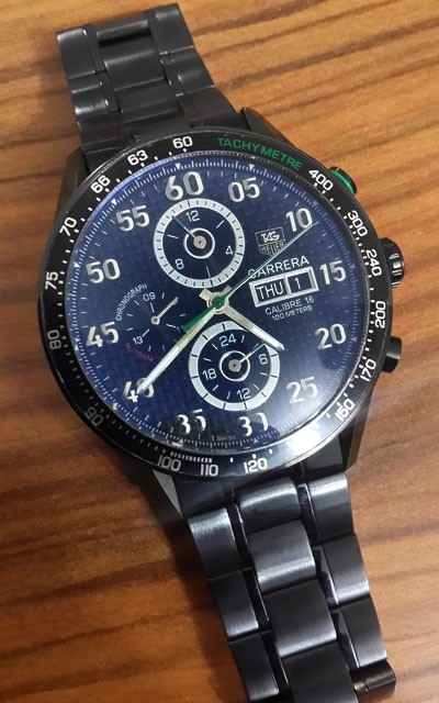 Relógio Réplica Tag Heuer Carrera 16 New Verde