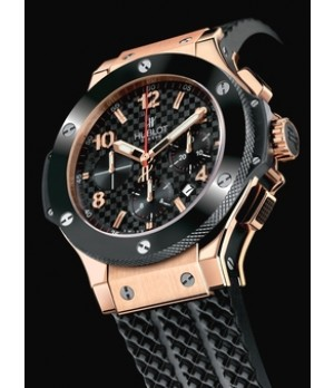 d282ecf5b6c Espiar · Relógio Réplica Hublot Big Band Red Gold Black Ceramic