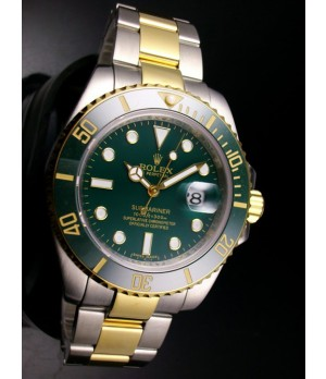 7b7f8da91d8 Espiar · Relógio Réplica Rolex Submariner Dark Green Misto