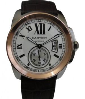 Relógio Réplica Cartier Calibre Rosê