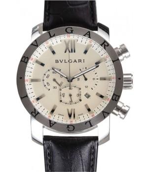 Relógio Bulgari Chronometro White Couro