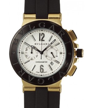 Relógio Réplica Bulgari Titanium Dourado