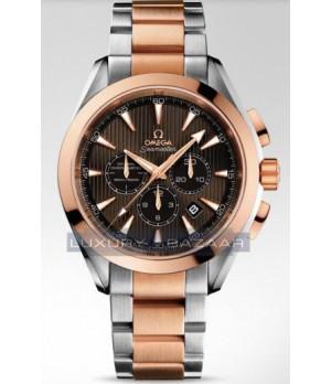 Relógio Réplica Omega Aqua Terra Chronograph