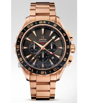 Relógio Réplica Omega Seamaster Gmt Rosê