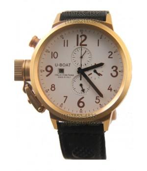 922a0e2c5da Espiar · Relógio Réplica U-Boat Ítalo Fontana Gold White