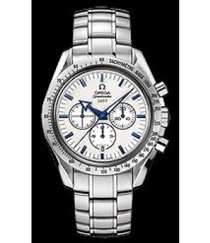 Relógio Réplica Omega Speedmaster Broad Arrow White Blue