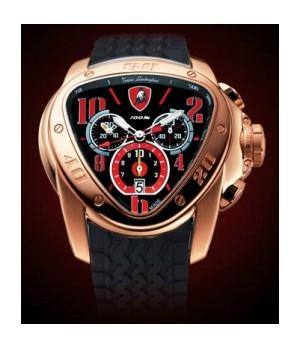 Relógio Réplica Lamborghini Spedlink Rosê Red