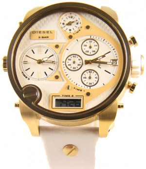 Relógio Diesel DZ7194 Dourado e Branco