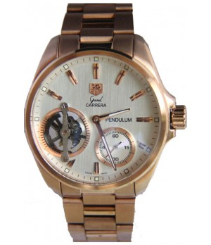 bf623f52474 Espiar · Relógio Réplica Tag Heuer Carrera Pendulum Aço Rosê