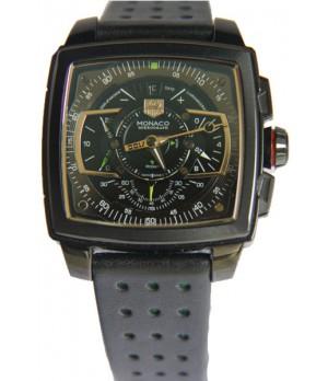 20a2cc93538 Espiar · Relógio Réplica Tag Heuer Monaco Mikrograph Preto com Verde