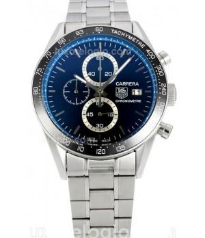 29726b70837 Espiar · Relógio Réplica Tag Heuer Carrera Brad Pit Azul