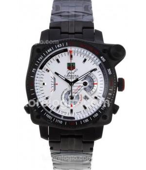 8081eaa20fe Espiar · Relógio Réplica Tag Heuer Carrera 36Rs Caliper Preto Branco