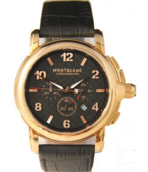 Réplica Relógio Montblanc Chronograph Gold Black